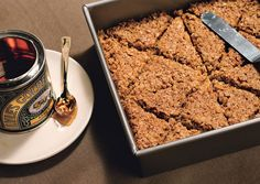 British Flapjacks recipe from Bon Appetit. Ingredients: cup stick) unsalted butter, cut into 8 pieces, cup (packed) golden brown sugar, cup golden syrup, 2 c. Golden Syrup, English Food, Bon Appetit, Cookie Recipes, Dessert Recipes, The Best, Sweet Tooth, Yummy Food, Pie
