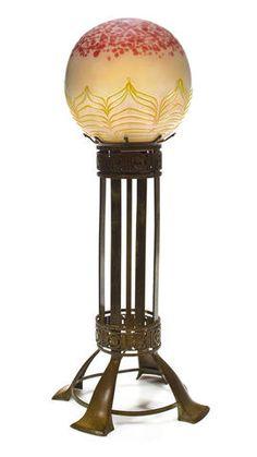 Art Nouveau lamp by Loetz, 1900.