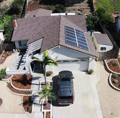 Nice solar panel installation on a roof.