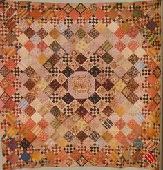 Checkerboard Quilt, c 1830. Victoria & Albert Museum, London, UK.