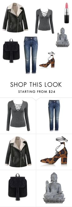 """Grays thrown"" by her-aesthetic on Polyvore featuring H&M, Topshop, Universal Lighting and Decor and MAC Cosmetics"
