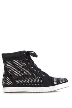 Encrusted Toe Cap Lace Up Trainers @ Everything5pounds.com