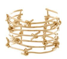 "#HazelSmyth. #KnotsCollection. Knot Cuff. 1 1/2"" Gold."