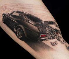 Wonderful black car with money tattoo by niki norberg
