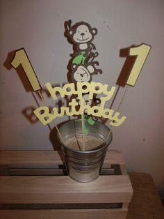 Monkey Birthday Centerpiece