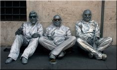 Silver Men of Rome, on the street by Aili A. Finland