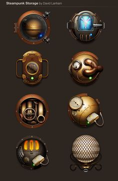 Steampunk storage for Mac. I use these and love them!