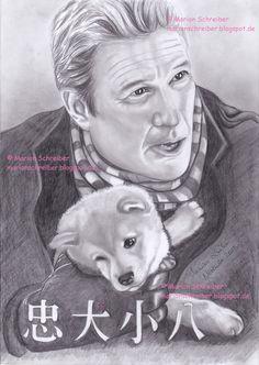 #drawing #zeichnung #hachi #hachiko #RichardGere #movie #friends #dogs #love