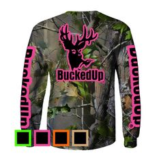 af8b01b5e65 Long Sleeve Realtree APG Camo with Classic BuckedUp® Logo Hunting Shirts,  Hunting Clothes,