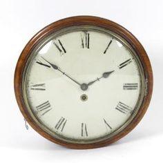 A Victorian Mahogany-cased Single-fusee Wall Clock. The