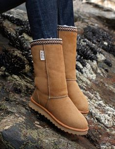 Braid Boots, from Celtic Sheepskin Sheepskin Boots, Ugg Boots, Celtic, Calves, Uggs, Stylists, Braids, Footwear, My Favorite Things