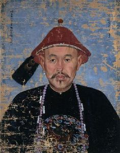 "Jean Denis Attiret 王致誠 ""PORTRAIT OF the LEADER OF THE MONGOLIAN TRIBE DORBET ERDENI"" (Around 1755) | Flickr: partage de photos!"