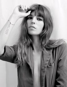 Lou Doillon photographed by her late half sister Kate Barry. RIP Kate