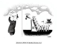 """OÖN-Karikatur vom 3. Februar 2015: """"Vielleicht springt ja Red Bull Airlines ein?"""" Mehr Karikaturen auf: http://www.nachrichten.at/nachrichten/karikatur/ (Bild: Mayerhofer)"""