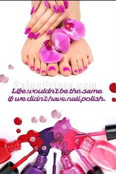 Nail Salon Poster - Colorful Manicure and Pedicure Gel Polish Poster || P-149…