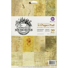 Prima Timeless Memories Collection  A4 PAPER PAD 8 in x 11 in  See Project Ideas by SeptemberPlayground on Etsy