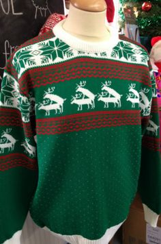 XMAS CHRISTMAS JUMPER SWEATER RUDE REINDEER NOVELTY MENS LADIES SIZES S M L XL | eBay @Kathleen St Clair