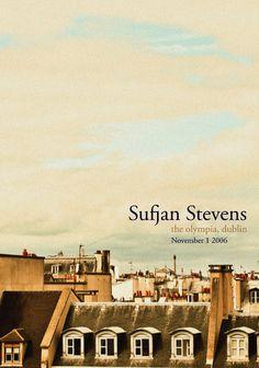 Poster designed for Sufjan Stevens, based on a photograph I took in Paris.