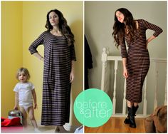 This is a DIY about tailoring an oversized knit dress. Find some awesome dresses from goodwill and do this