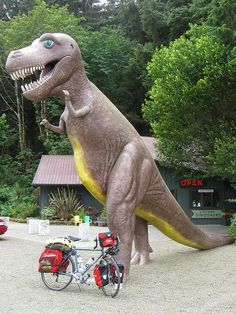 Campy side trip! Prehistoric Gardens, Port Orford, Oregon #ridecolorfully