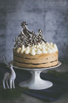 Gingerbread mocha cake