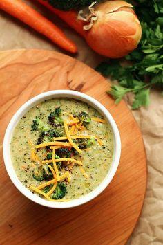 Creamy Vegan Broccoli Soup - ilovevegan.com