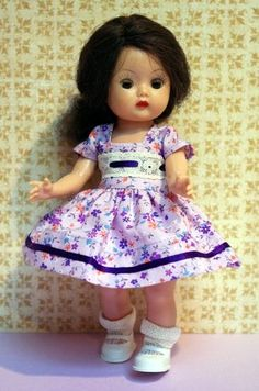 Hand designed 2 Pc Dress with matching panties for Vintage Nancy Ann Muffie doll only. Beautiful and at my ebay now. Low Buy it now Price!