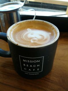 Mission Beach Cafe ∫ Grizzly coffee art