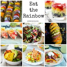 Eat the Rainbow with these brightly colored recipes packed full of nutrient dense foods. Healthy and beautiful! // A Cedar Spoon
