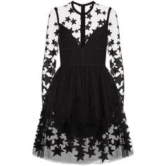 Elie Saab Star Embroidered Tulle Mini Dress ($5,615) ❤ liked on Polyvore featuring dresses, vestidos, платья, long sleeve mini dress, tulle cocktail dresses, tulle dress, long sleeve embroidered dress and short dresses #dressescasualcocktail