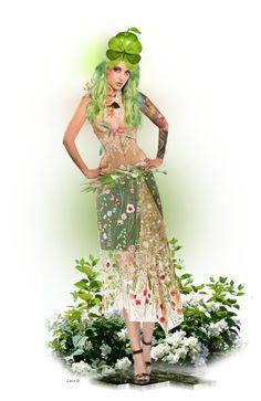 Green with Envy ~ Envy, Aurora Sleeping Beauty, Disney Princess, Disney Characters, Green, Polyvore, Dresses, Art, Fashion