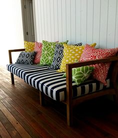 Could be done in outdoor fabric and use on patio  absolutely beautiful things: Ben & Phoebe's Daybed