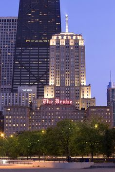 The Drake Hotel at Sunset by The Drake Hotel Chicago, via Flickr