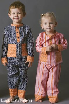 Pocket PJs PDF Sewing Pattern Boys or Girls Toddlers 18m 2T 3T 4T 5 6 7 8 by BlankSlatePatterns on Etsy