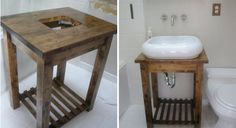 tables with sinks for bathroom - Bing Images - put one of these on each side of the wall in the Lion of Judah room -