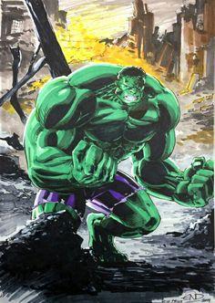 #Hulk #Fan #Art. (Hulk) By: Eric Ninaltowski. (THE * 5 * STÅR * ÅWARD * OF: * AW YEAH, IT'S MAJOR ÅWESOMENESS!!!™) ÅÅÅ+