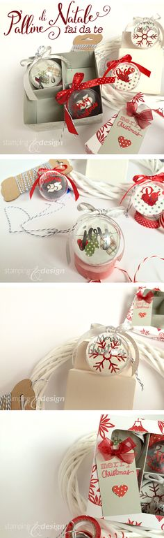 Palline di Natale fai da te DIY Christmas Ornaments #christmas #christmasornament #pallinedinatale #handmade