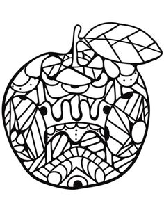 Zentangle Apple coloring page from Apples category. Select from 31927 printable crafts of cartoons, nature, animals, Bible and many more. Zentangle, Apple Coloring Pages, Printable Crafts, Free Printable, Printable Coloring, School Stuff, September, Coloring Pages, Bricolage