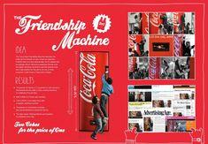 "Coca-Cola - ""The Friendship Machine (Board)"" Cannes Lions International Festival of Creativity 2011 Creative Advertising, Advertising Design, Marketing And Advertising, Advertising Ideas, Guerrilla Marketing, Digital Marketing, Cannes Awards, Logos Retro, Study Board"