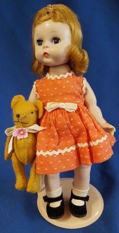 "Vintage Madame Alexander Doll 8"" Blonde Felt Bear Alexanderkins BKW 1956-64 #MadameAlexander #DollswithClothingAccessories"
