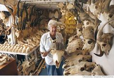 The Bone Collector – Man Amasses Creepy Collection of over 7,000 Animal Skulls and Bones