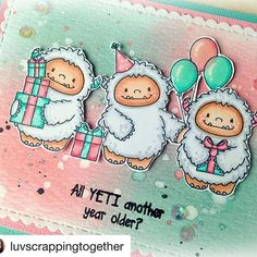 Had to share the close up of these cuties!! They're now in the CDD shop!! #Repost @luvscrappingtogether with @repostapp ・・・ I adore these new stamps from @craftindesertdivas ! The new Yeti To Party stamps are in the CDD Shop! You've got to get these!! #luvscrappingtogether #craftindesertdivas #yetitoparty #yeti #newrelease #birthday #cards