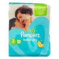 Pampers Baby-dry luiers maat 3 voor de nacht (weinig in aanbieding)