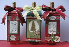 Wine bottle gift tags