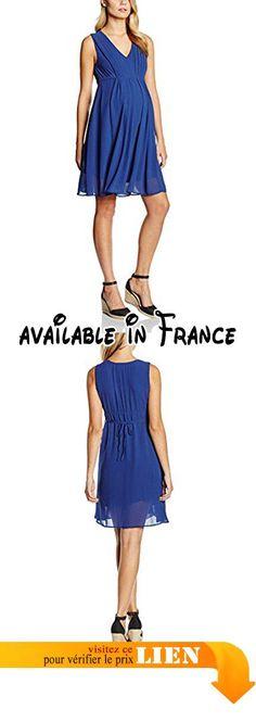 B01985YCF6 : Mamalicious - Robe - Maternité - Sans Manche Femme - Bleu - 38.