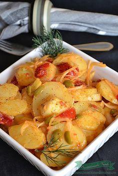 Salata orientala Salad Recipes, Diet Recipes, Vegetarian Recipes, Cooking Recipes, Healthy Recipes, Romanian Food, Romanian Recipes, 30 Minute Meals, Potato Recipes