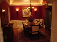 Classic Dining Room Dark Paint ColorsRich