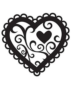 Darice® Embossing Folder Borders - Valentine Heart - x in, scrapbooking, card making, greeting cards, invitations and Silhouette Cameo, Silhouette Portrait, Silhouette Design, Silhouette Painting, Stencils, Heart Stencil, Tableau Design, Paper Hearts, Beautiful Textures