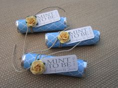 Bridal shower wedding favor  Mint to be by BabyEssentialsByMel, $36.00- we can DIY