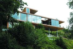 Cross Laminated Timber (CLT) house on stilts